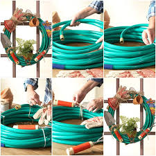 how to make garden hose wreath step by step diy tutorial instructions thumb