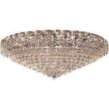 28 light 36 chrome flush mount asfour crystal chandelier lighting lamp fixture