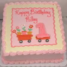 49 Baby Girl First Birthday Cake Spring Themed