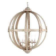 meridian 6 arm wood orb chandelier chairish wood orb chandeliers