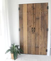DIY Reclaimed Wood Closet Doors - The Definery Co