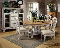 image of antique white kitchen table and chair