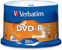 <b>Verbatim DVD-R 4.7GB 16x</b> AZO Recordable Media Disc - 50 Disc ...