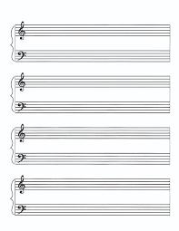 Print Out Blank Music Sheet Piano Pandastic Designs