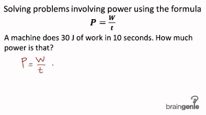physics solving problems involving power using the  physics 2 1 10 1 solving problems involving power using the formula