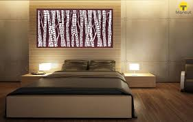 wall panel lighting. Interesting Panel Brown And White Snakewood Pattern Panel On A Wall Above Bed In GreyLight  For Lighting D