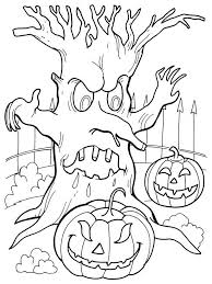 appalling scary tree coloring pages printable for sweet how to draw pictures step by frameimage org page