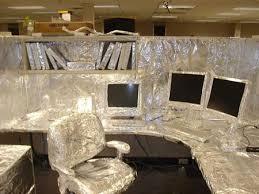 office desk pranks ideas. Best-tin-foil-office-cubicle-prank-at-work- Office Desk Pranks Ideas