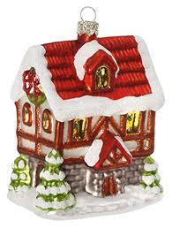 Inge Glas Christbaumschmuck Weihnachtskugeln Figuren Weihnachtliches Haus 115cm