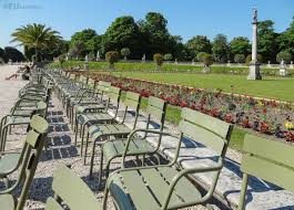 pictured within luxembourg gardens paris where there are rows of chairs lined up along the open walkways ready to use