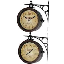 two sided wall clock double ping india