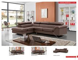 Leather Sectional Living Room Furniture Caracas Sectional Full Leather Leather Sectionals Living Room