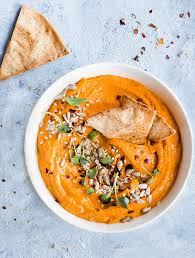 smooth creamy and y this roasted red pepper hummus is ideal for enterning