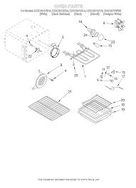 kesc307hbt4 electric slide in range oven parts diagram