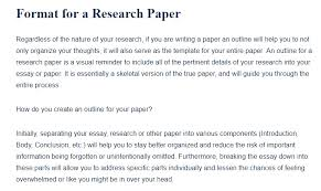 academic paper format format for a research paper a research guide for students