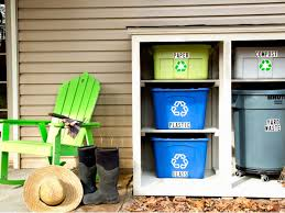 Kitchen Recycling Center How To Build An Outdoor Recycling Center Hgtv