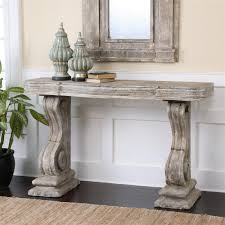 French Hall Table Console Beautiful Lisette Country Antique Grey Stone Carved