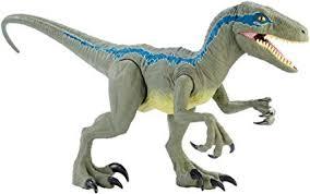 Jurassic World Super Colossal Velociraptor Blue ... - Amazon.com