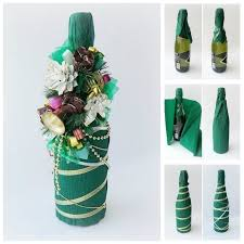 Creative Ideas - DIY Decorated Holiday Champagne Bottle
