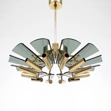 smoked glass chandelier 1970s vintage designer furniture