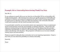 Thank You Letter Sample For Internal Interview Piqqus Com