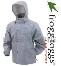 Frogg Togg Rain Gear Size Chart Details About Frogg Toggs Rain Gear Pa63123 07 Gray Pro Action Mens Jacket Wet Fishing Hiking