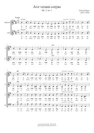 ave verum corpus sheet music elgar opus 2 no 1 ave verum corpus sheet music for voice
