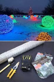 How To Make Outdoor Christmas Light Balls Outdoor Lighting How To Make Christmas Nice Light Balls