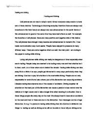 texting and driving essay introduction texting while driving essay 846 words bartleby