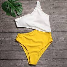 yellow cut out <b>bathing suit</b>