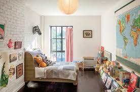 charming kids bedroom with brick walls charming kid bedroom design