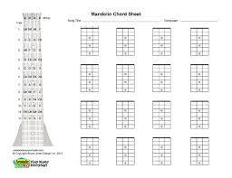 Mandolin Blank Printable Chord Boxes Mandolin In 2019 Mandolin