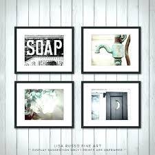 bathroom wall art rustic decor set of 4 prints or canvas decoration day