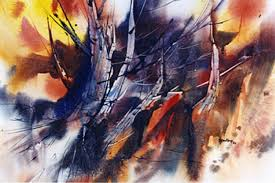 famous abstract watercolor paintings tom fong purple400266