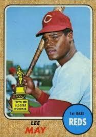 Size Of A Baseball Card Baseball Cards Lee May 1969 Set Name 1968 Topps Card