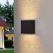 led outdoor wall lights. Square LED Outdoor Wall Light Trixy, Graphite Grey-9619075-31 Led Lights L