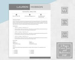 Reference Pages For Resumes Resume Template For Word Two Page Resume Cover Letter References Modern Template Contemporary Resume Instant Download Designer Resume