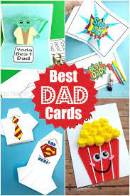 With father's day approaching we though we would share a few more ideas for father's day cards and crafts kids can make. Father S Day Cards To Make With Kids Red Ted Art Make Crafting With Kids Easy Fun