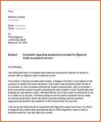 Complain Business Letter Business Communication Letter Of Complaint Sample 6044