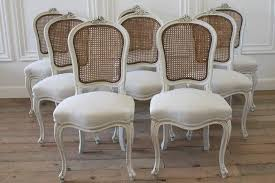 set of eight vintage french painted cane back dining chairs at 1stdibs intended for brilliant property cane dining chairs ideas