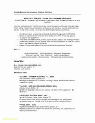 Substitute Teacher Resume Examples New Free Resume Builder With Job