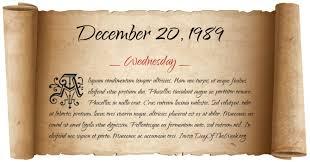 Image result for On December 20, 1989,