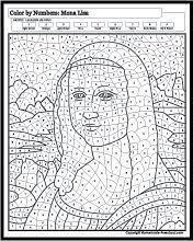 Afbeeldingsresultaat Voor Kleurboeken Mona Lisa Mona Giaconda