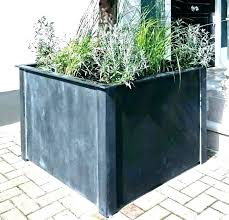 tall black outdoor planters square outdoor planters large galvanized metal garden full image for tall black tall black outdoor planters tall and large