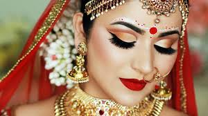 indian bengali bridal makeup and bindi design smitha deepak home made art