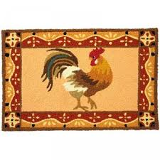 Rooster Rugs For Kitchen Shop Jellybean Barnyard Rooster Rug Outdoor Door Mat Jellybean