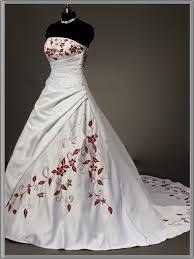 White And Red Wedding Dresses Weddingcafeny Com