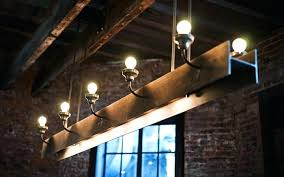 full size of rustic wood beam lighting industrial chandelier with steel o id lights surprising light