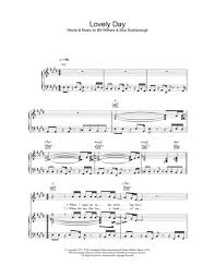 Lovely Day Horn Chart Lovely Day By Bill Withers Digital Sheet Music For Piano