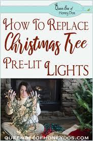 Easiest Way To Check Christmas Lights Pre Lit Christmas Tree Lights Repair Replace Pre Lit